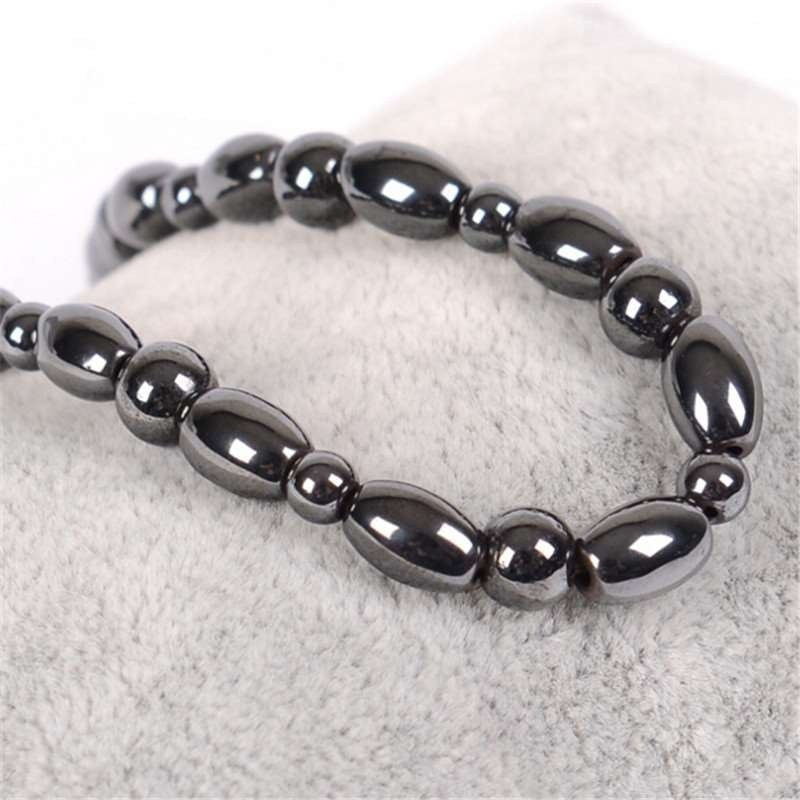 Anklet Bracelet Slimming Gallstone Hematite Weight Loss Anti-Cellulite Women Body Health Care Physical Therapy Black Products