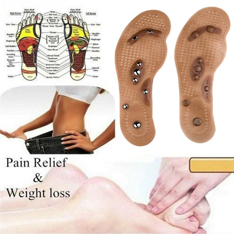 Loss Weight Massage Foot Care Shoes Mat Pad Brown Insole Wholesale Soles Magnetic Therapy Slimming Insoles Health Care Brown Mat