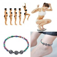Mixed Color Weight Loss Round Stone Magnetic Therapy Bracelet Health Care Magnetic Hematite Ankle Chain For Men Women #294137