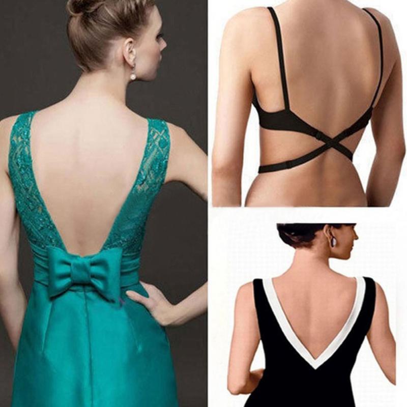 1 PC Low Back Bra Straps Converter Sexy Fashion Bra Belt for Low-back Dresses Backless Fully Adjustable Bra Extenders Hook