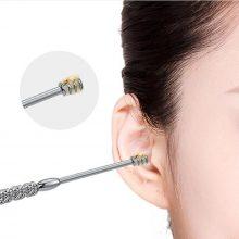 1/7pcs Ear Wax Pickers set Stainless Steel Earpick Wax Remover Curette Ear Pick Cleaner Ear Cleaner Spoon Care Ear Clean Tool