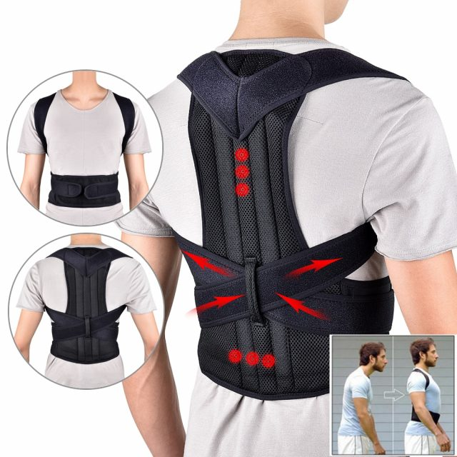 2019 Back Waist Posture Corrector Adjustable Adult Correction Belt Waist Trainer Shoulder Lumbar Brace Spine Support Belt Vest