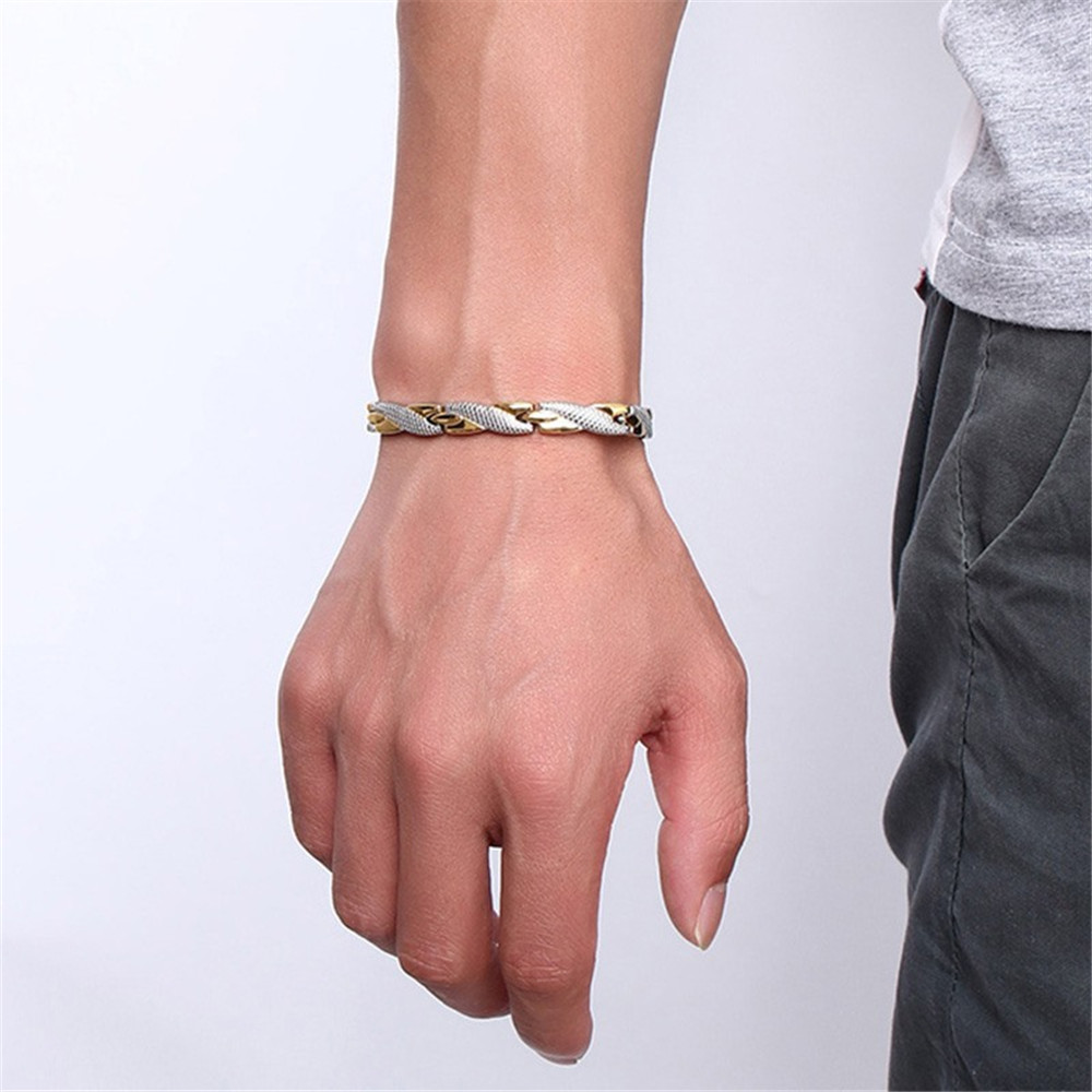 Twisted Healthy Magnetic Bracelet for Women Power Therapy Magnets Magnetite Bracelets Bangles Men Health Care Jewelry Stainless