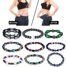 Weight Loss Bracelet Hematite Round Beads Stretch Bracelet Fos