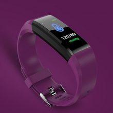 ID115 PLUS Color Screen Smart Bracelet Sports Pedometer Watch Fitness Running Walking Tracker Heart Rate Pedometer Smart Band