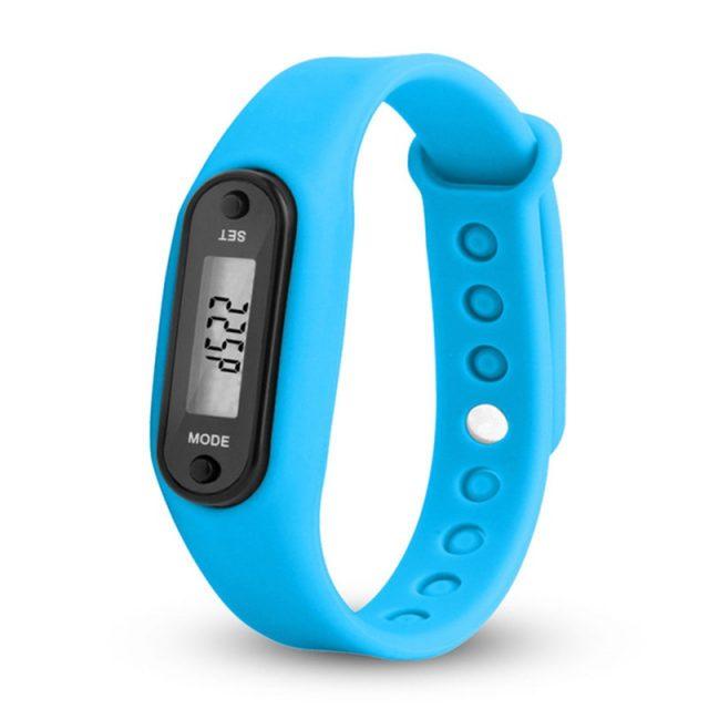 2020 Sport Smart Wrist Watch Bracelet Display Fitness Gauge Step Tracker Digital LCD Pedometer Run Step Walking Calorie Counter