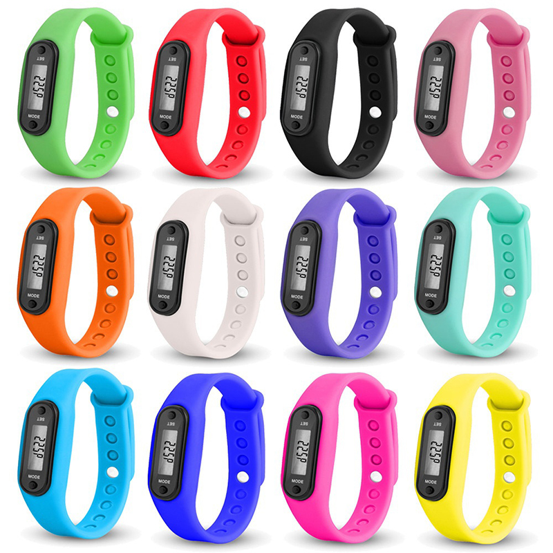 2020 Sport Smart Wrist Watch Bracelet Display Fitness Gauge Step Tracker Digital LCD Pedometer Run Step Walking Calorie Counter