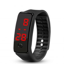 LED Silicone Wristband Bracelet Light weight Soft Fashion Fitness clock Sports Band Watch For Men Women dropshipping