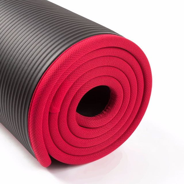 10MM Extra Thick 183cmX61cm High Quality NRB Non-slip Yoga Mats For Fitness Tasteless Pilates Gym Exercise Pads with Bandages