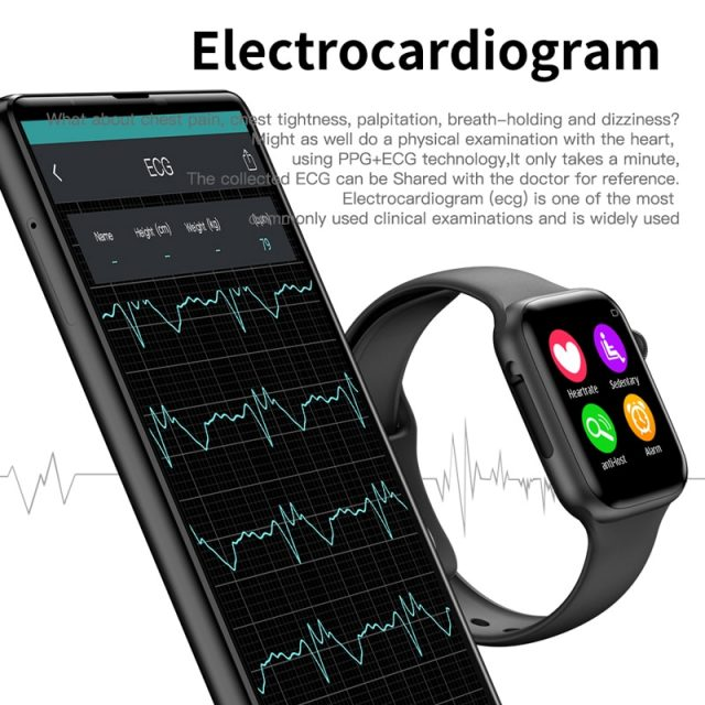 Soulusic IWO 8 lite Bluetooth Call Smart Watch ECG Heart Rate Monitor W34 Smartwatch for Android iPhone xiaomi PK iwo 8 10 Band