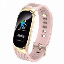 Sports Waterproof Smart Watch Women Smart Bracelet Band Bluetooth Heart Rate Monitor Fitness Tracker Smartwatch Metal Case