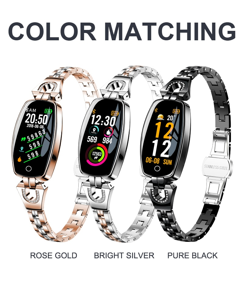LEMFO H8 Smart Watch Women 2019 Waterproof Heart Rate Monitoring Bluetooth For Android IOS Fitness Bracelet Smartwatch
