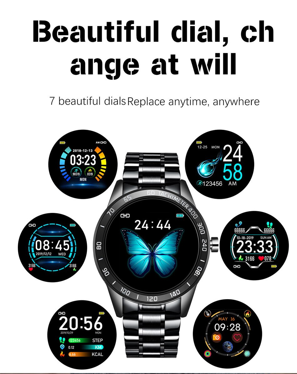 LIGE 2019 New Smart Watch Men LED Screen Heart Rate Monitor Blood Pressure Fitness tracker Sport Watch waterproof Smartwatch+Box