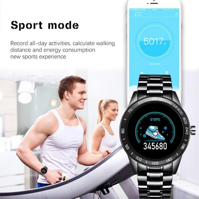 LIGE 2019 New Smart Watch Men LED Screen Heart Rate Monitor Blood Pressure Fitness tracker Sport Watch waterproof Smartwatch+Box