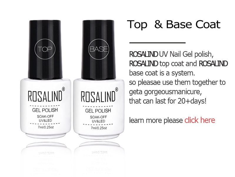 ROSALIND Gel Polish Set All For Manicure Semi Permanent Vernis top coat UV LED Gel Varnish Soak Off Nail Art Gel Nail Polish
