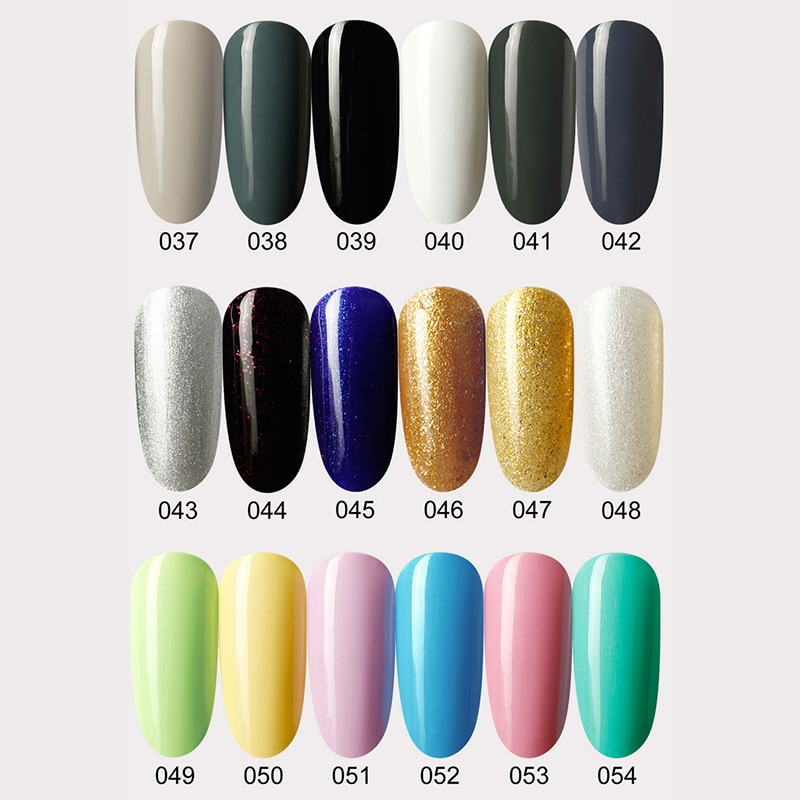 8ml UV Gel Nail Polish Top coat 2pcs Base and Top coat Varnishes Nail Gel primer Long Lasting Soak off UV Gel Nail Art Manicure