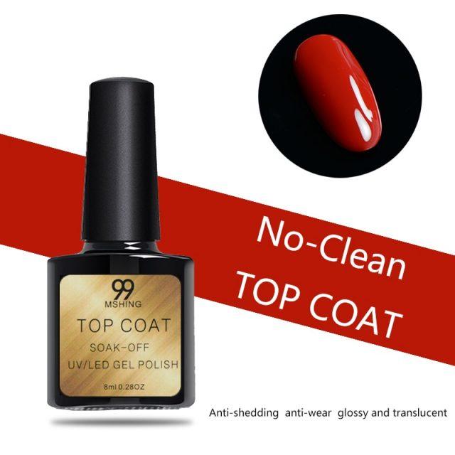 8ml UV Gel Nail Polish Top coat 2pcs Base and Top coat Varnishes Nail Gel primer Long Lasting Soak off  UV Gel Nail Art Manicure