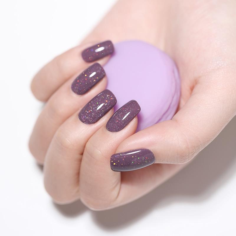 LILYCUTE 5ml Color UV Gel Holographic Glitter Sequins Semi Permanent Soak Off Nail Art Gel Polish Varnish Manicure Design