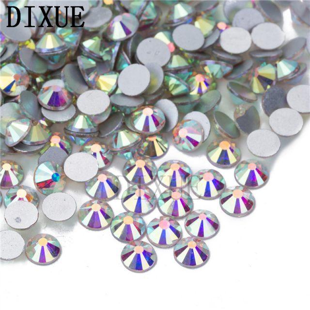 High light AAA rhinestone crystal AB clear SS3-SS40(1.3mm-8.4mm) Non Hotfix flatback Rhinestones for Nails 3D nail art  gems045