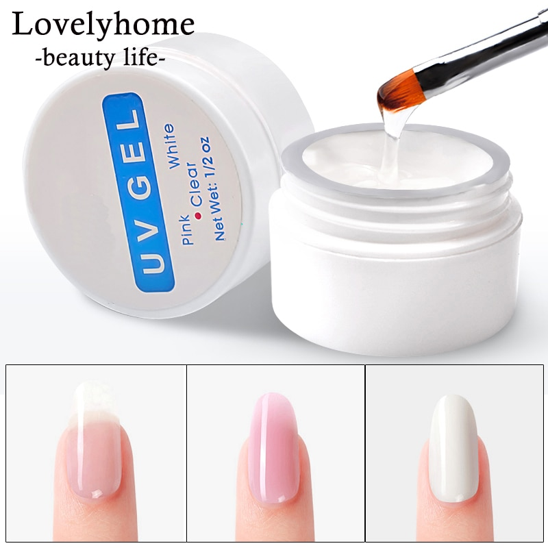 Nail Extension Gel 3 colors Poly Gel Builder Gel For Finger Extension UV Gel Polish Forms for Nail Extension Nail Art Varnish
