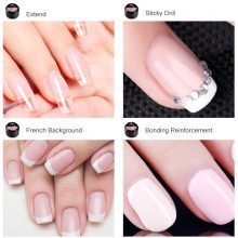 2019 New Products Wholesale Nail Gel CANNI Nail Extension Gels Thick Builder Gel Natural Camouflage UV Gel 15ml manicure led