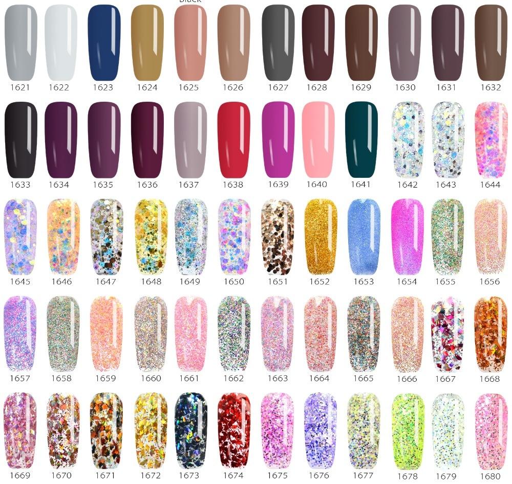 Venalisa color Gel Paint uv Nail Gel Soak Off Nail Art led nail lacquer 60 colors glitter rainbow Painting Gel nail polish