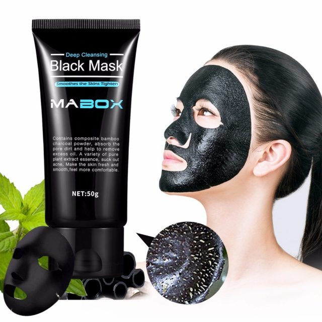 Mabox Black Mask Peel Off Bamboo Charcoal Purifying Blackhead Remover Mask Deep Cleansing for AcneScars Blemishes WrinklesFacial
