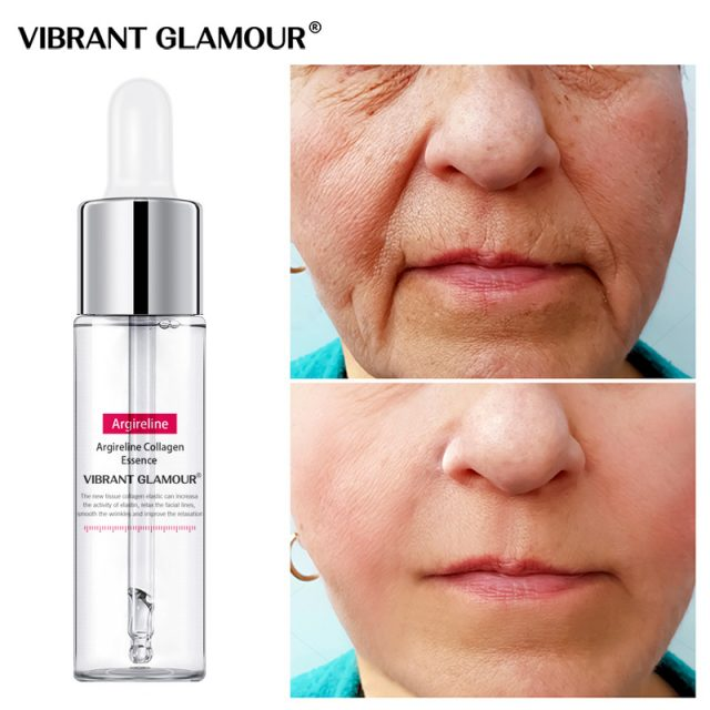 VIBRANT GLAMOUR Argireline Collagen Face Serum Anti-Aging Wrinkle essence cream Lift Firming Whitening Moisturizing Skin Care