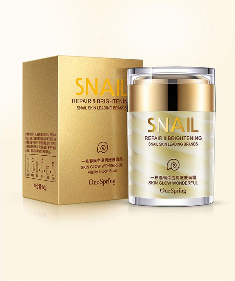 OneSping Snail Cream Snail Whitening Cream Aloe Vera Gel Eye Serum Face Cream Anti Wrinkle Rorec Korean Face Care Cosmetics