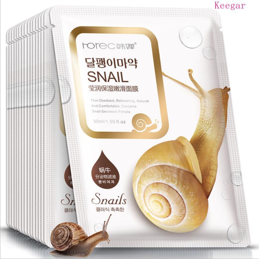 Bioaqua Sheet Mask Snail Essence Facial Mask Skin Care Face Mask Remove blackheads Hydrating Moisturizing Mask korean skin care