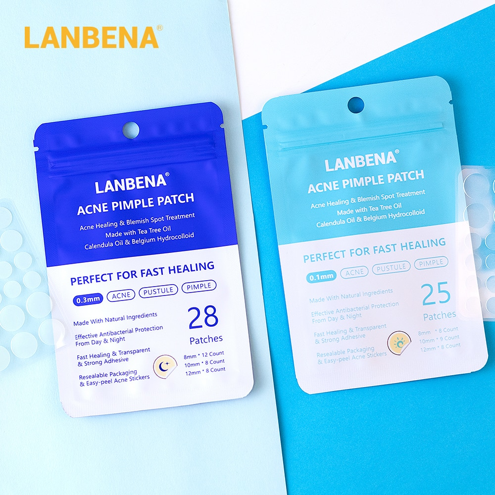 LANBENA Acne Pimple Patch Face Mask 28pcs Invisible Acne Stickers Blemish Treatment Pimple Remover Tool Skin Care Face Cream