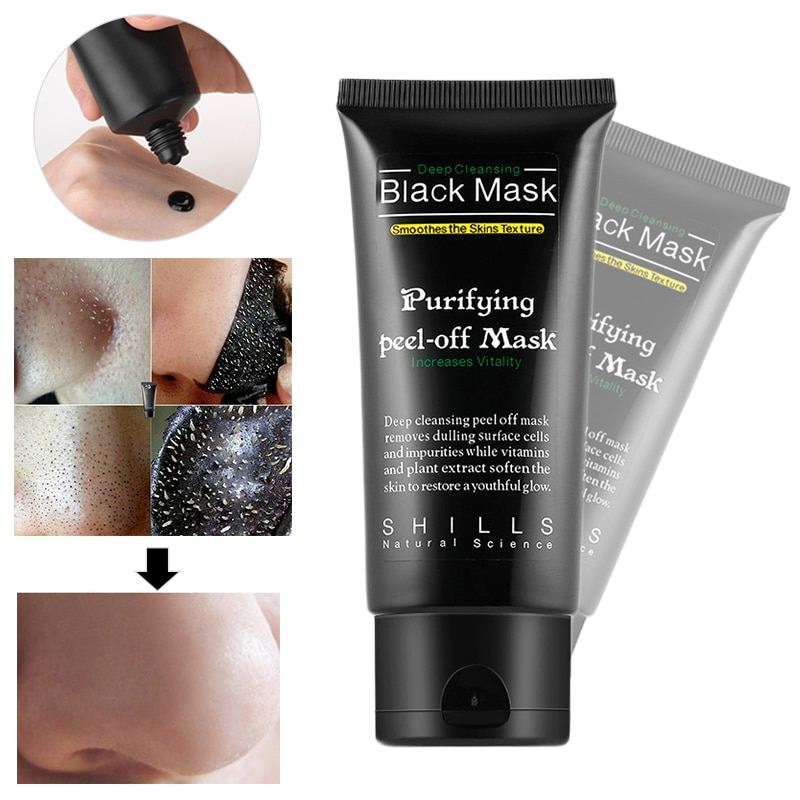 Bamboo Charcoal New Suction Face Deep Cleansing Black Mud Mask Blackhead Remover Peel-Off Mask Easy to Pull Out Blackheads TSLM2