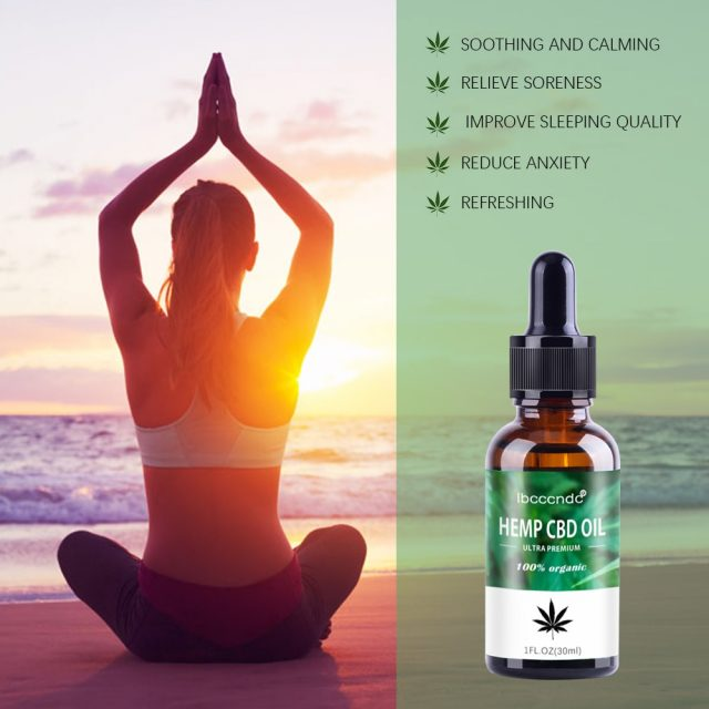 30ml 100% Organic Hemp CBD Oil 2000mg Bio-active Hemp Seeds Oil Extract Drop for Pain Relief Reduce Anxiety Better Sleep Essence