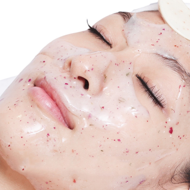 DIY SPA Collagen Rose Hyaluronic Acid Soft Mask Powder Face Mask Anti Aging Anti Wrinkle Peel Off Rubber Facial Mask