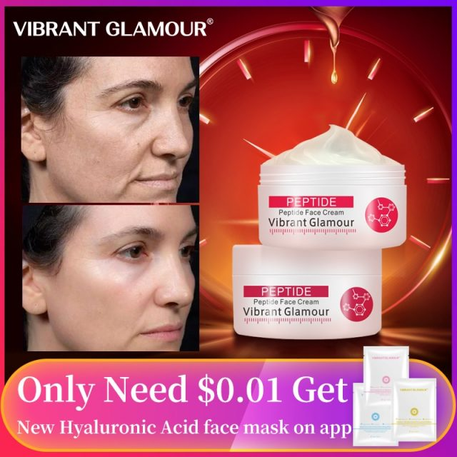 VIBRANT GLAMOUR  Argireline Pure Collagen Face Cream Anti Aging wrinkle Firming  Anti Acne Whitening Moisturizing for women 30g