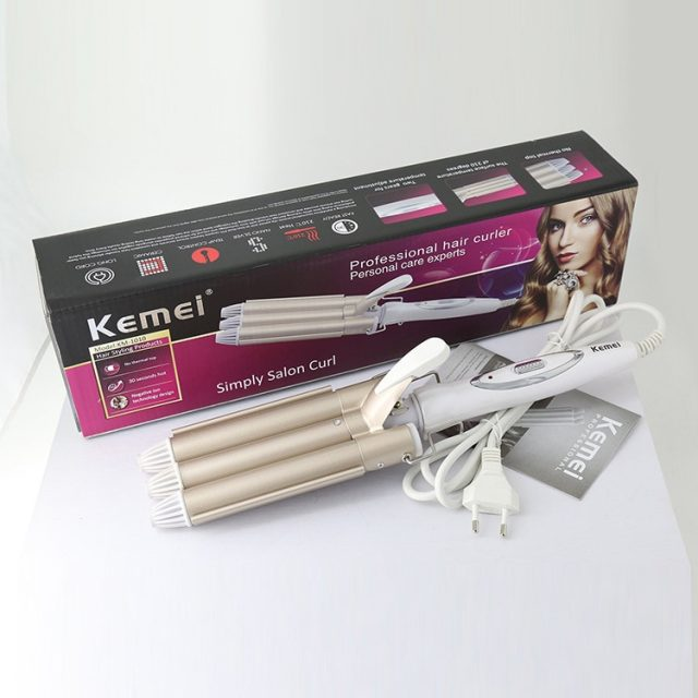 Professional Curling Iron Ceramic Triple Barrel Hair Styler Hair Waver Styling Tools 110-220V Hair Curler Electric Curling 41D