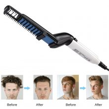VIP Dropship Men Quick Beard Straightener Styler Comb Multifunctional Hair Curler Show Cap Tool Electric Heating Hair Brush