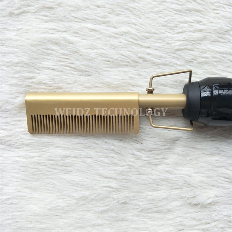 Hair Straightener Iron Hair Curler Iron Comb Wet Dry Hair Pure Copper Head Electric Environmentally Friendly Titanium Alloy YJ4