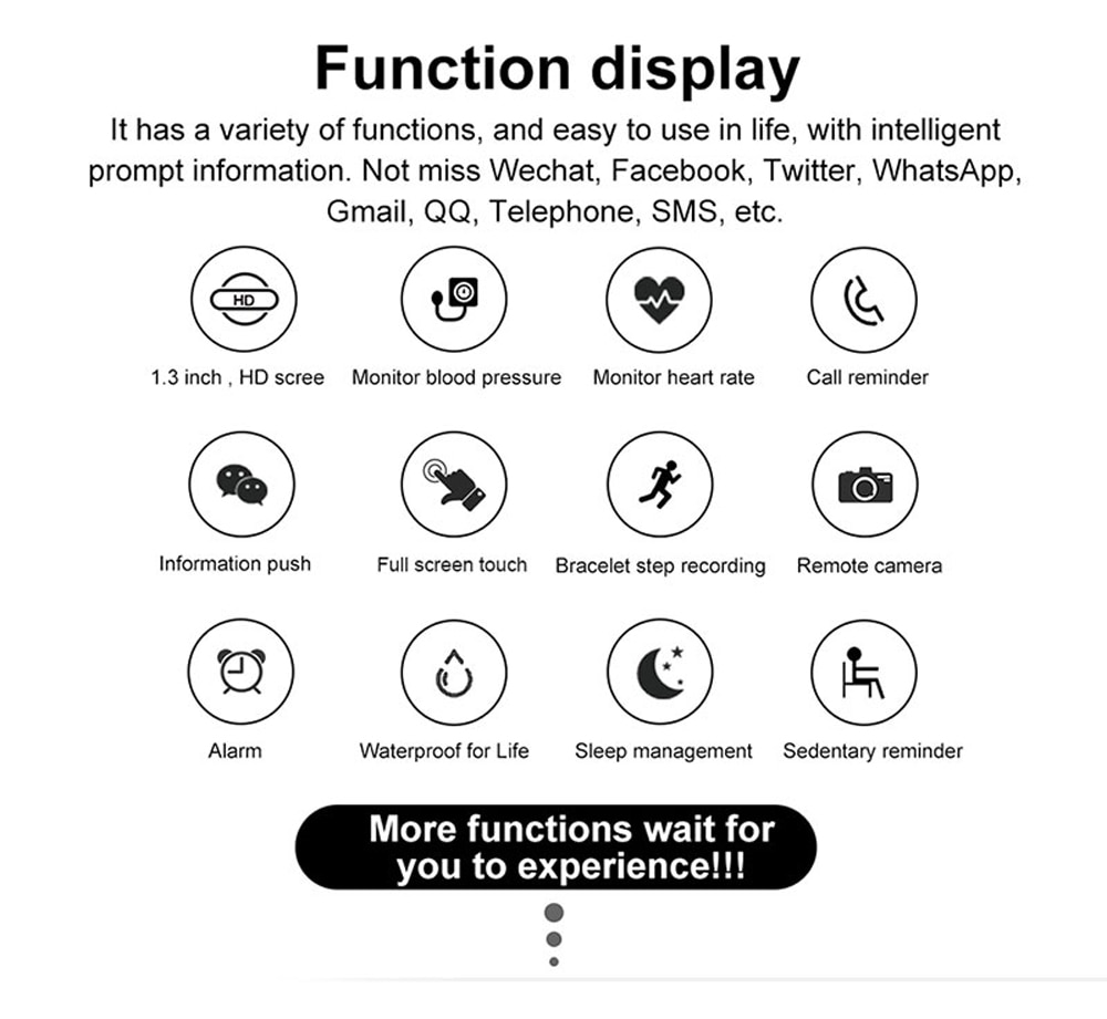 2020 Full Touch Smart Watch Men Blood Pressure Smartwatch Women Waterproof Heart Rate Tracker Sport Clock Watch For Android IOS
