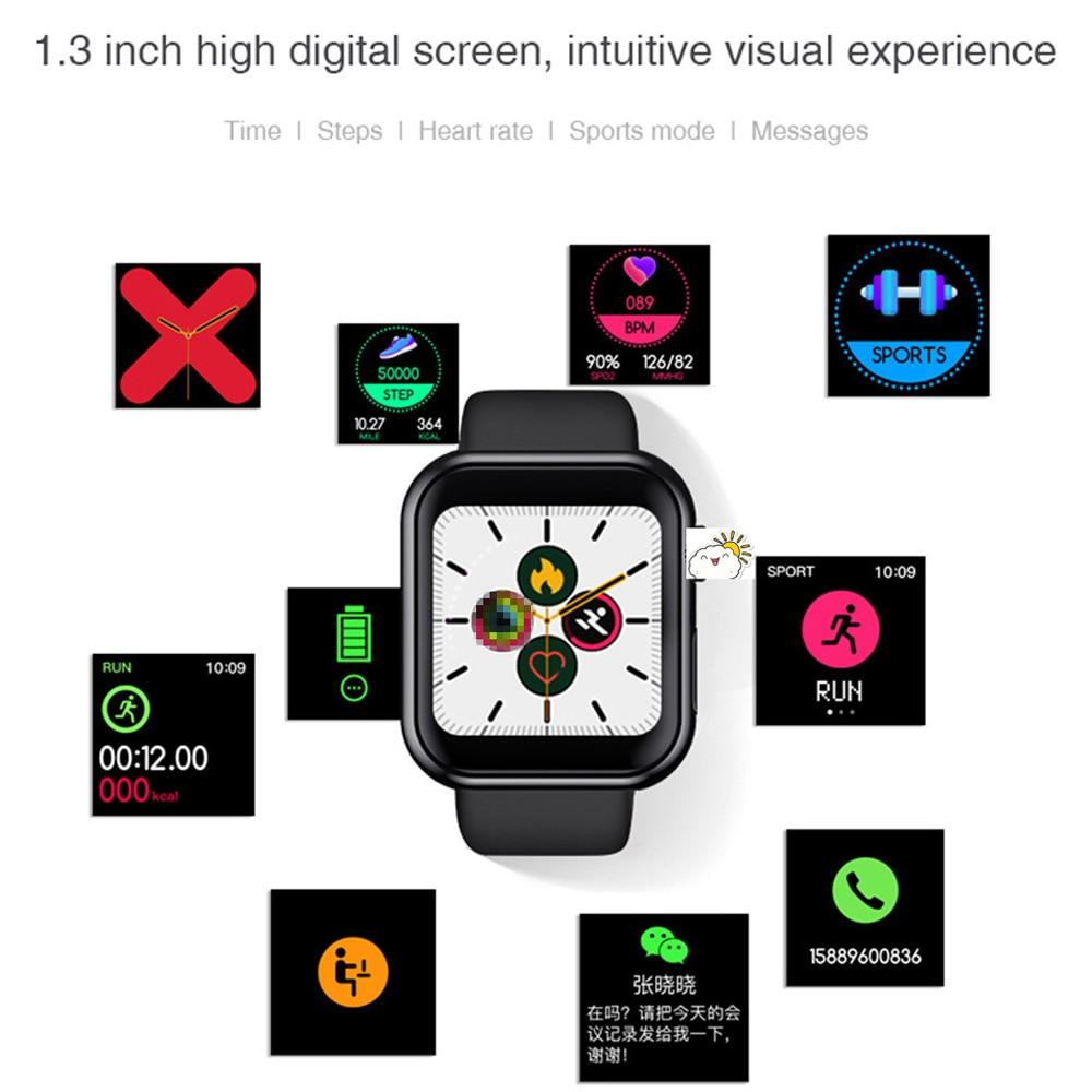 2020 Men Women Smart Watch Waterproof Blood Pressure Smartwatch Heart Rate Monitor Sleep Tracker Clock Watch For Android IOS