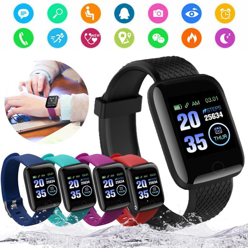 Smart Watch Sports wirstband Smartwatch Bluetooth Smart Band Heart Rate Bracelet Blood Pressure Monitor Waterproof 116 Plus