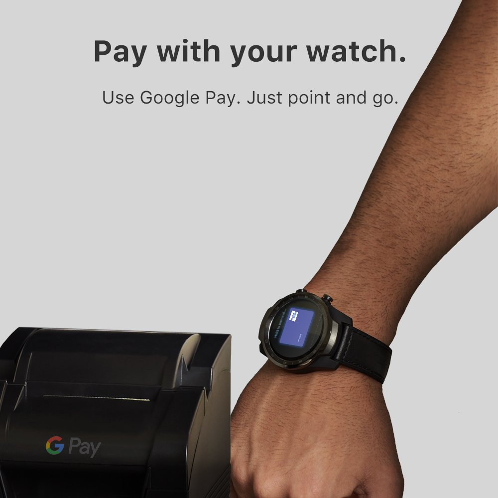 TicWatch Pro Smart Watch Men's Watch Wear OS by Google for iOS& Android NFC Payment Built in GPS Waterproof Bluetooth Smartwatch
