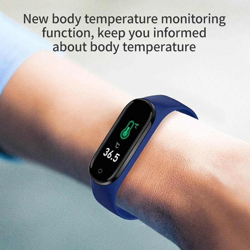 M4pro Smart Watch Men Body Temperature Smartwatch Women Ip67 Waterproof Sport Fitness Tracker Blood Pressure Heart Rate Monitor