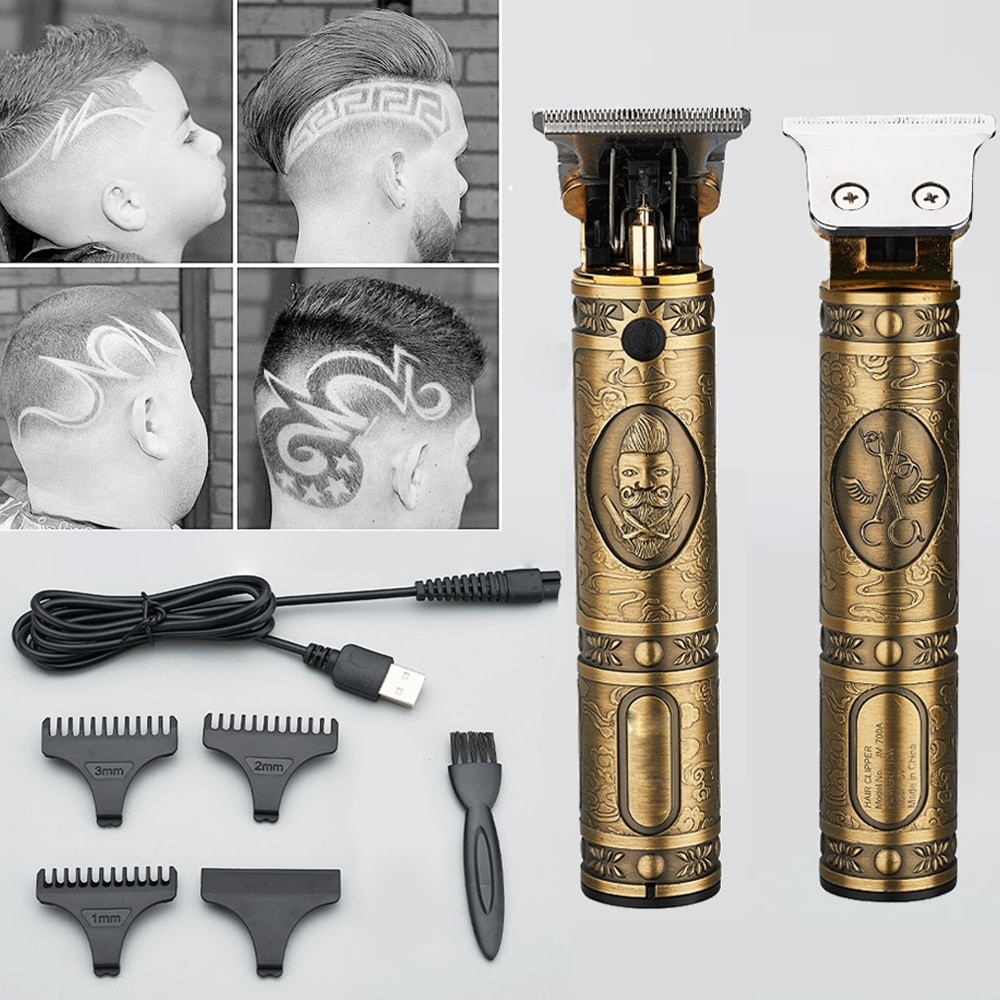 Professional Hair Clippers Barber Haircut Sculpture Cutter Rechargeable Razor Trimmer Adjustable Cordless Edge for Men