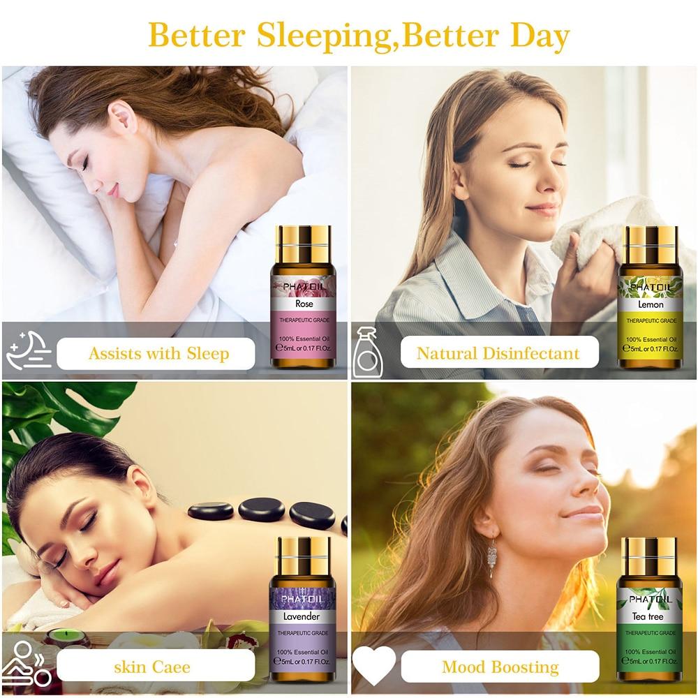 Pure Essential Oils 15pcs Gift Set Natural Plant Aroma Essential Oil Diffuser Eucalyptus Vanilla Mint Geranium Rose Tea Tree Oil
