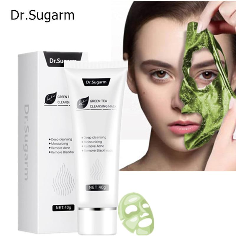 40g Dr.Sugarm Green Tea Blackhead Mask  Skin Care Remove Acne Nose Deep Cleansing  Pore Strip  Moisturizing Peel Mask Korea