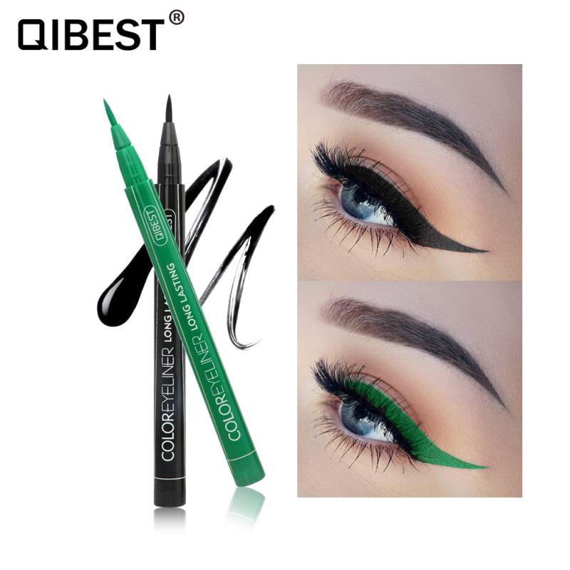 QIBEST 12 Color Waterproof Matte Eye Cosmetics Eye Liner Pencil Long Lasting not Blooming Cat Eye Charming Eye Liner PencilTSLM2