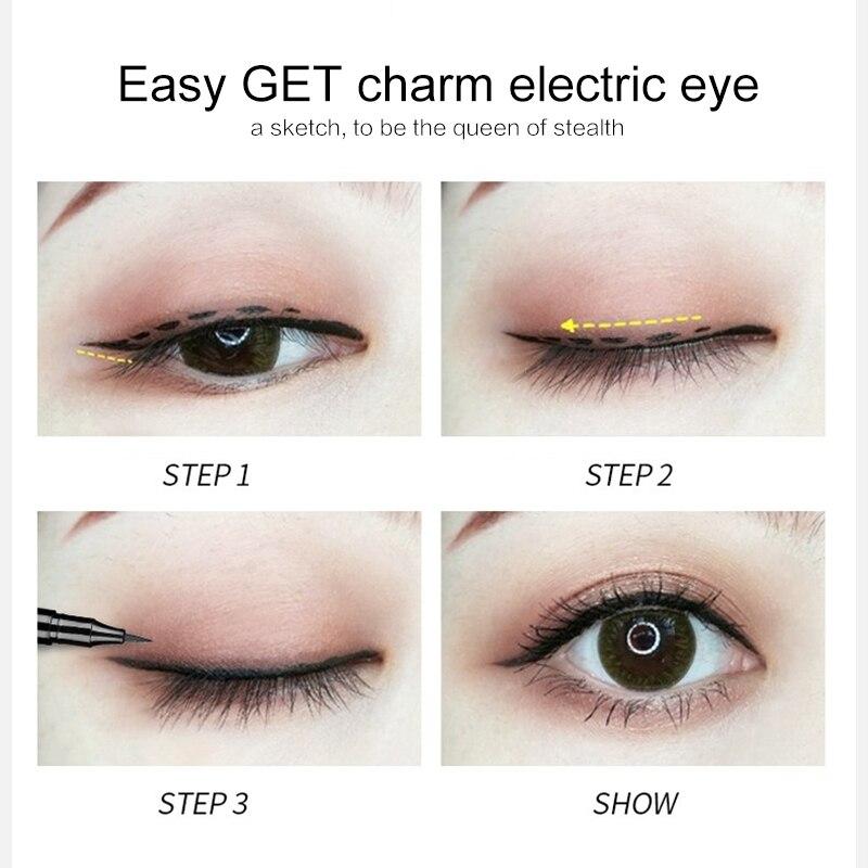 Black Eyeliner Liquid Pencil Long-lasting Not Blooming Eye Liner Makeup Pen Profession Eyeliner Makeup Cosmetic Maquillaje TSLM2
