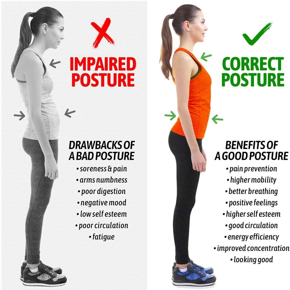 Upper Back Brace Straightener Posture Correction For Clavicle Support Comfortable Posture Trainer Neck Back Shoulder Pain Relief
