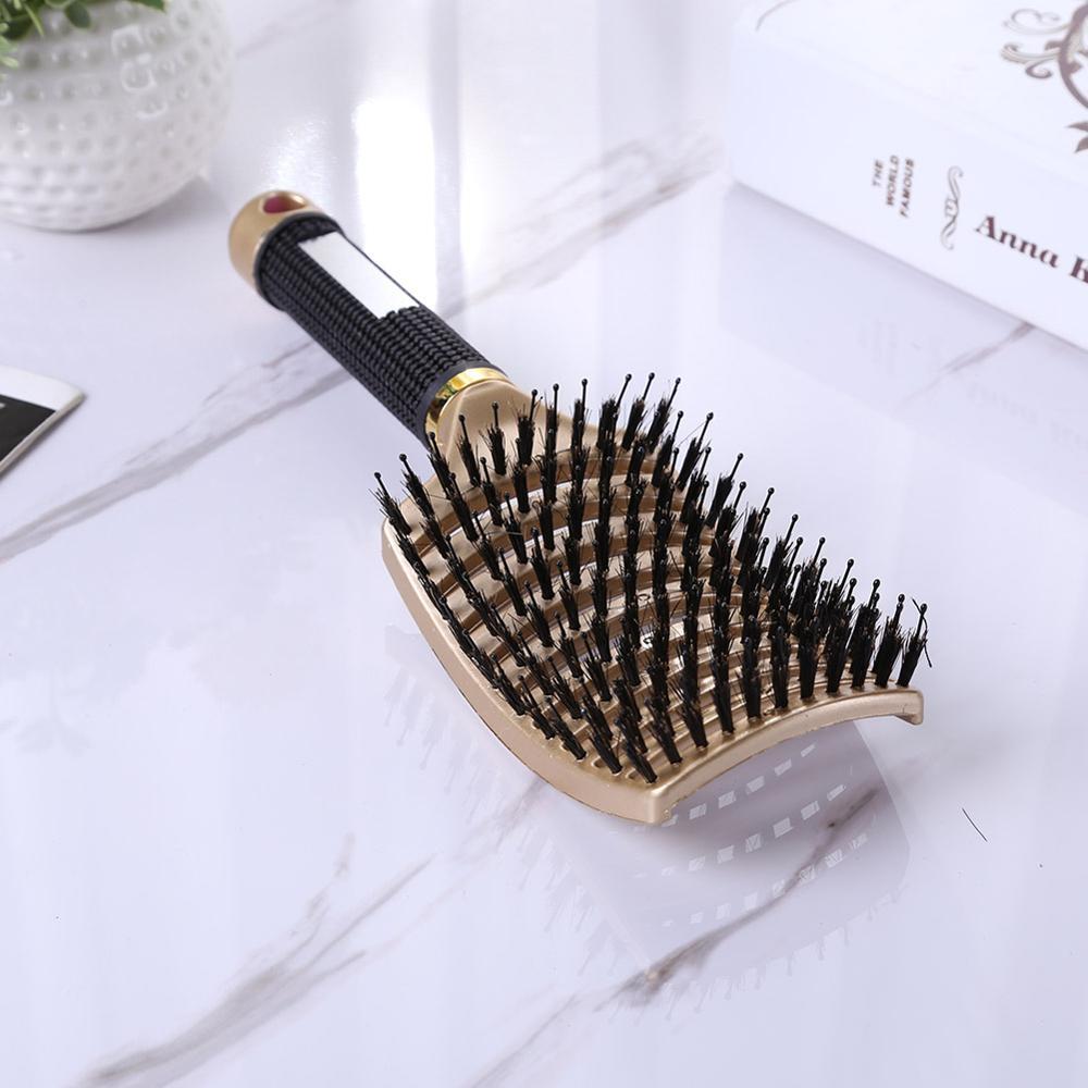 Hair Scalp Massage Comb Hairbrush Bristle Nylon Women Wet Curly Detangle Hair Brush for Salon Hairdressing Styling Tools